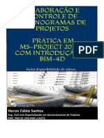 Planejamento de Projetos com MS-Project e BIM-4D