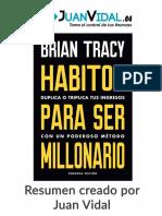 Resumen de Hábitos Para Ser Millonario de Brian Tracy