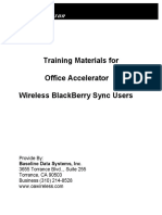 Training Materials for Wireless Blackberry Sync Users