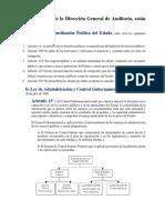 Las actividades de la Dirección General de Auditoría