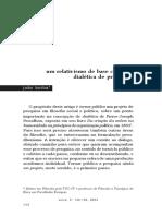 Um relativismo em base cética na dialética de Proudhoun joão borba