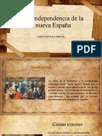 Causas Externas e Internas de La Independencia de La Nueva España (1)