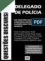 Livro - 230 Questões discursivas para Delegado de Polícia
