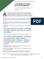 Como estimar as atividades do projeto - Técnicas básicas de planejamento.pdf