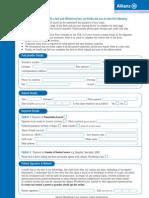 Modulo di rimborso spese mediche ClaimForm-English