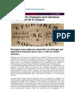 Comment les Français sont devenus des puristes (26-02-2016)
