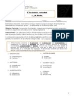 Guía incremento de vocabulario III   3 y 4 MEDIO