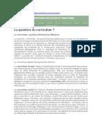 La question du curriculum (Observatoire Éducation et Territoire)