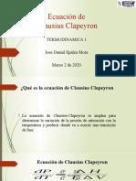 Presentacion Ec. Clausius Clapeyron.-1.pptx