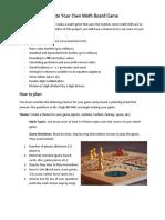 diy math board game