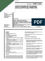 NBR 13083 - 1994 - Centrais Privadas de Comutação Telefônica (CPCT) Tipo PABX CPA.pdf