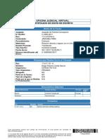 Certificado de Envío por Contestar Traslado