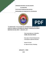 """""""Elaboración y evaluación de un producto instantáneo a base de la mezcla de harina de cebada y espirulina en niños menores de diez años""""..pdf"""