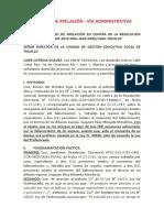 RECURSO DE APELACIÓN - VÍA ADMINISTRATIVA
