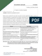 Resultado análise de avaliação  - EPI tipo Face shield