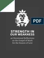 Strength in Weakness OCC Lent Devotional 1