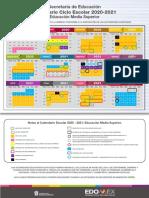 Calendario Escolar Media Superior Estado de México 2020-2021