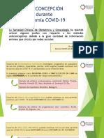 ANTICONCEPCIÓN y COVID 19