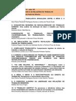 Lista de resumos aceitos para as oficinas