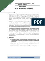 PRACTICA N° 3 MANEJO DEL MICROSCOPIO  GRUPO B