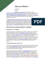 Partidos políticos de Bolivia