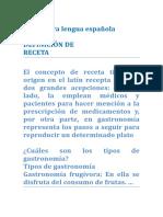 DEFINICIÓN de de La Receta y Los Texto Instutivo