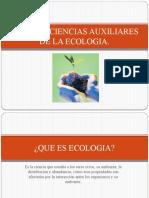 RAMAS Y CIENCIAS AUXILIARES DE LA ECOLOGIA