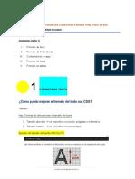 TUTORIAL CSS PASO A PASO