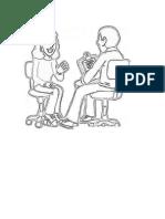 Pinta el siguiente dibujo entrevista de trabajo