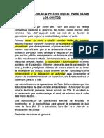 CASO NUMERO 1 - GERENCIA DE OPERACIONES