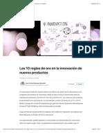 Las 10 reglas de oro en la innovación de nuevos productos | LinkedIn.pdf