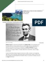 15 frases del presidente Abraham Lincoln para no olvidar