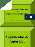 Argumentos de Autoridad - Causas