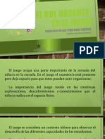 ROL DOCENTE EN EL JUEGO