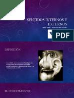 SENTIDOS INTERNOS Y EXTERNOS