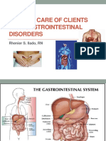 Nursing of clients with gastrointestinal disorders