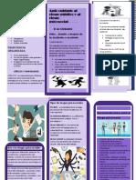 folleto de riesgo publico
