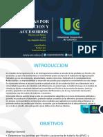 PERDIDAS POR FRICCION Y ACCESORIOS
