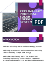 ZERO COST SOLAR ENERGY SYSTEM PROPOSAL 2019