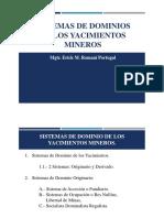 6.- SISTEMAS DE DOMINIO DE LOS YACIMIENTOS MINEROS