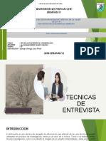 EXPOSICION DE TECNICAS DE ENTREVISTA