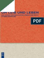 [Quellen und Forschungen zur Literatur- und Kulturgeschichte, 71] Tilo Renz - Um Leib und Leben_ Das Wissen von Geschlecht, Körper und Recht im Nibelungenlied