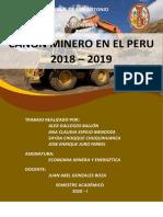 CANON MINERO EN EL PERU 2018 - 2019