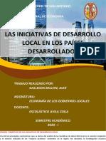 LAS INICIATIVAS DE DESARROLLO LOCAL EN LOS PAÍSES DESARROLLADOS