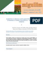 SALES, Patrícia Gomes de Mello; ALMEIDA, Maria de Fátima. Bakhtin e o Círculo Ante Questões de Teoria Literária e Teoria Linguística, Primeiros Tempos