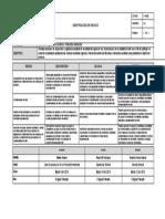 F-DE-05 IDENTIFICACION DE RIESGOS. IVC en Protección Ambiental