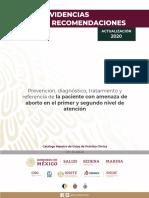 AMENAZA DE ABORTO 2020