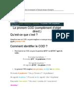 les pronoms complements COD