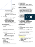 Fundamentals of Business Notes (Organizing & Motivations)