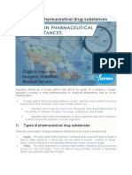 Impurities in Pharmaceutical Drug Substances